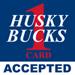 husky bucks accepted here