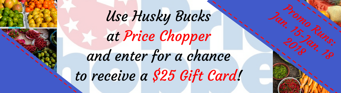 Enter to win a $25 Gift Card to Price Chopper just by using Hucks Bucks.