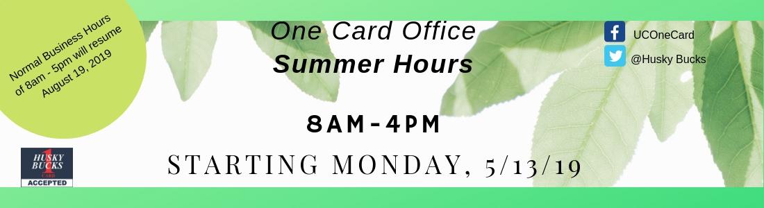 Summer Hours 8-4